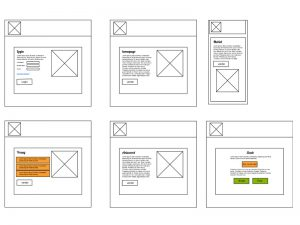Simpele wireframe