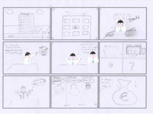 Storyboard schets uitwerken